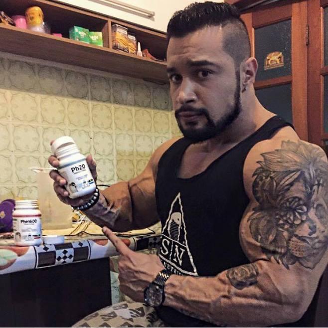 Carlão usa o Ph20 para ganho e manutenção da massa muscular