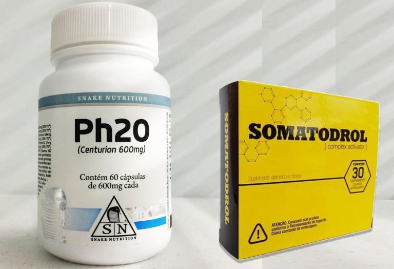 ph20 e somatodrol, qual melhor para ganhar massa